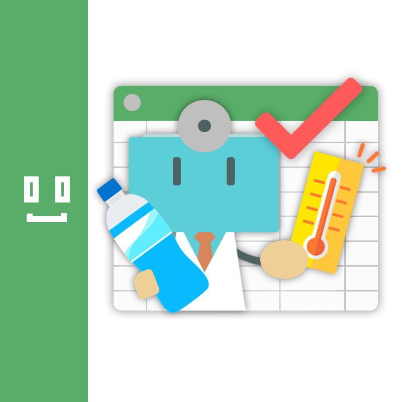 熱中症予防チェックボットロゴ